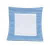 Poduszka zamszowa niebieska