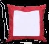 Poduszka zamszowa czerwona