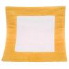 Poduszka zamszowa żółta